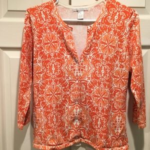 Vivid orange cardigan, med, Sarah Spencer